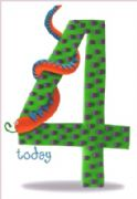 Age 4 Birthday Card - Snake